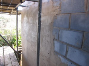 Extension wall slurry coat