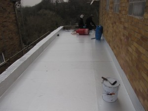 vapour barrier being laid