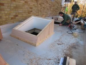 rooflight kerb