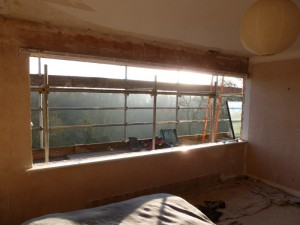 Bedroom window removed