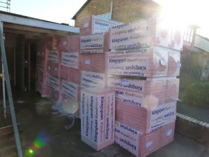 Insulation arrives