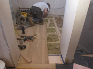 hall floor installation